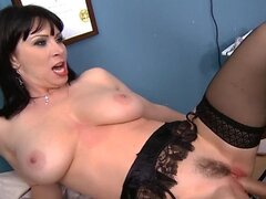 Busty dental assistant is fucked hard & deep until she cums