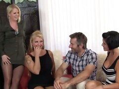 Mature Group Sex with Hot Cougar MILFs