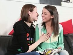 two incredible lesbians with vibrator