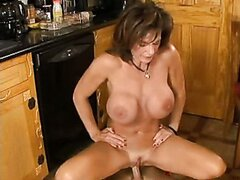 lusty hot mom Deauxma gets jizzed on her mouth as a reward after a hot fuck