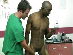 Doctor inspects ebony boy Jackson