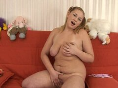 Chubby pigtailed babe Valerie is fucking like insane