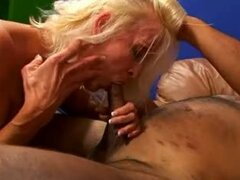 Dirty Old Tart Devours Cock