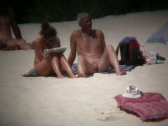 Sexy babes at the beach are playing on camera