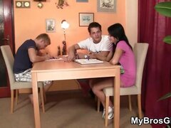 Hot banging of his brother's girl