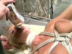 Insane Madison James fucking hard in a BDSM video and swallow all the jizz