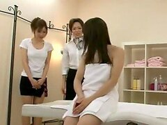 Massage therapy turns into fuck fest with a sexy Japansese woman