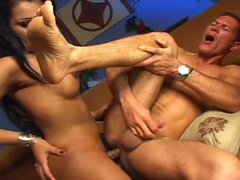 Big butt nasty latin tranny hardcore anal session with horny hunk