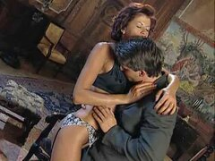 A retro scene as a hot mature whore gets dicked heavy by a suited bloke
