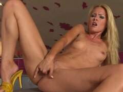 Sophie Moone fills her wild fingers deep in her slippery snatch