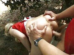 Hot girl giving you head in outdoor video