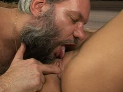 Amazing Kira Banks gets fucked rough by an old guy