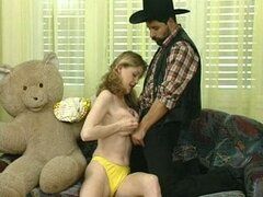 Cowboy fucking teen up the ass