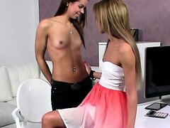 Hot dyke casting babes tasting pussy