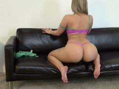 Alexis Texas points her rockin' blonde booty right at the camera