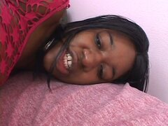 Fatty black lesbian pussy toying and playing session
