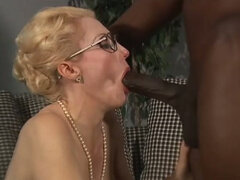 Mature white teacher gets screwed hard by young dark skinned stud