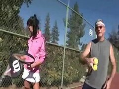 Teen Brunette Is FUcked BY Her Honry Tennis Coach