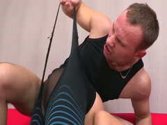 Rough russian dude fucks his sister-in-law hard in her room