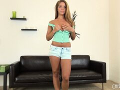 Averi Brooks is a very cute little brunette teen that likes to get naked