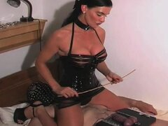 CBT from mistress in latex