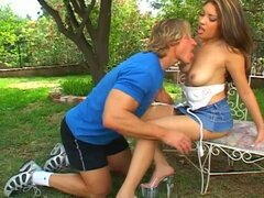 Asian Slut Crazy Sex in the Park