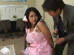 Adorable Japanese girl bound and struggling