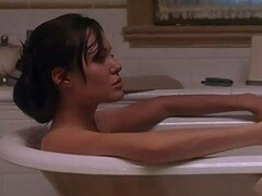 Spectacular Celeb Angelina Jolie Looking Sexy In The Bathtub