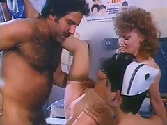 Nurses and Doctors Fuck Each Other in a Insanely Hot Retro Orgy