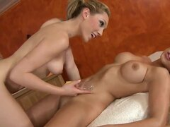 Marvelous and naughty lesbians Lily LaBeau and Zafira doing a massage and are having a lot of fun with each other, with their fingers they are pleasing each others wet pusses very good.