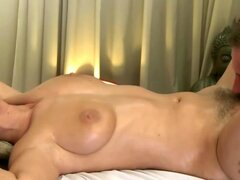 Young massage model licked...