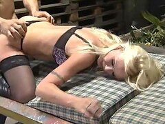 Fucking hot and busty German blonde likes big cock
