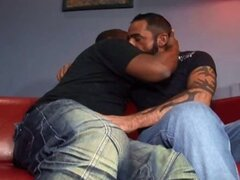 Two black gay homeboys sucking cock and fucking each others black asses