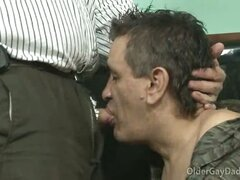 Older Gay Daddies Esteban And Migue Fuck In The Living Room