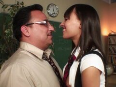 Nadia Aria sucks dick of her new math teacher
