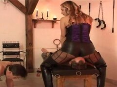 Mistress loves Facesitting on her bound subjects