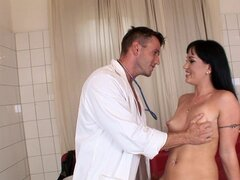 Doctor fucks slender brunette Jenis King in a hot BDSM scene