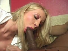 Pink pussy rammed and creampied by a black cock