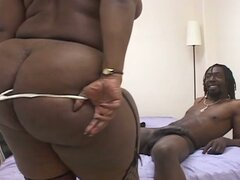 Big beautiful black woman loves cock action