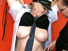 Dirty BDSM plays with old fat sluts in red room