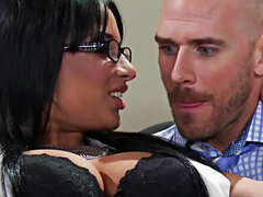 Busty secretary Anissa Kate fucks her boss Johnny Sins