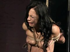 Stunning Black Sonja sucks a cock and gets tortured