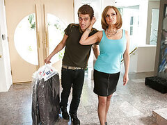 Xander is bringing his best friend's dry cleaning over to him when Miss Bardoux stops him. She is upset that Xander is such a pushover and allows her son to order him around. There is just no changing him......but then Miss Bardoux has an idea. Maybe fuck