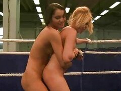 Two hot european beauties fighting