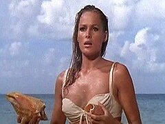 Mesmerizing Bond Girl Ursula Andress Wearing a Bonerific White Bikini