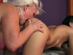 Awesome old lady Lyen Parker is teaching her younger girlfriend Judi the way of the best lesbian sex, that she will ever have in her life. Enjoy the hot video.
