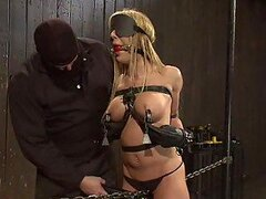 Blonde Babe Gets Tied Up And Fucked With A Machine