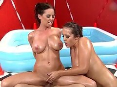 Horny Babes Lube Up To Fight!