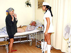 Old horny fart is fucking his hot and sexy nurse hardcore