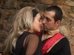 Horny spanish babe has a blast fucking her man in a castle